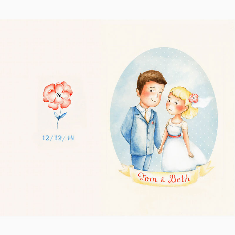 Wedding card - Olya Badulina - Children's illustrator