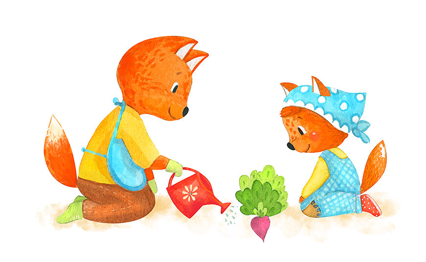 Foxes are putting a plant