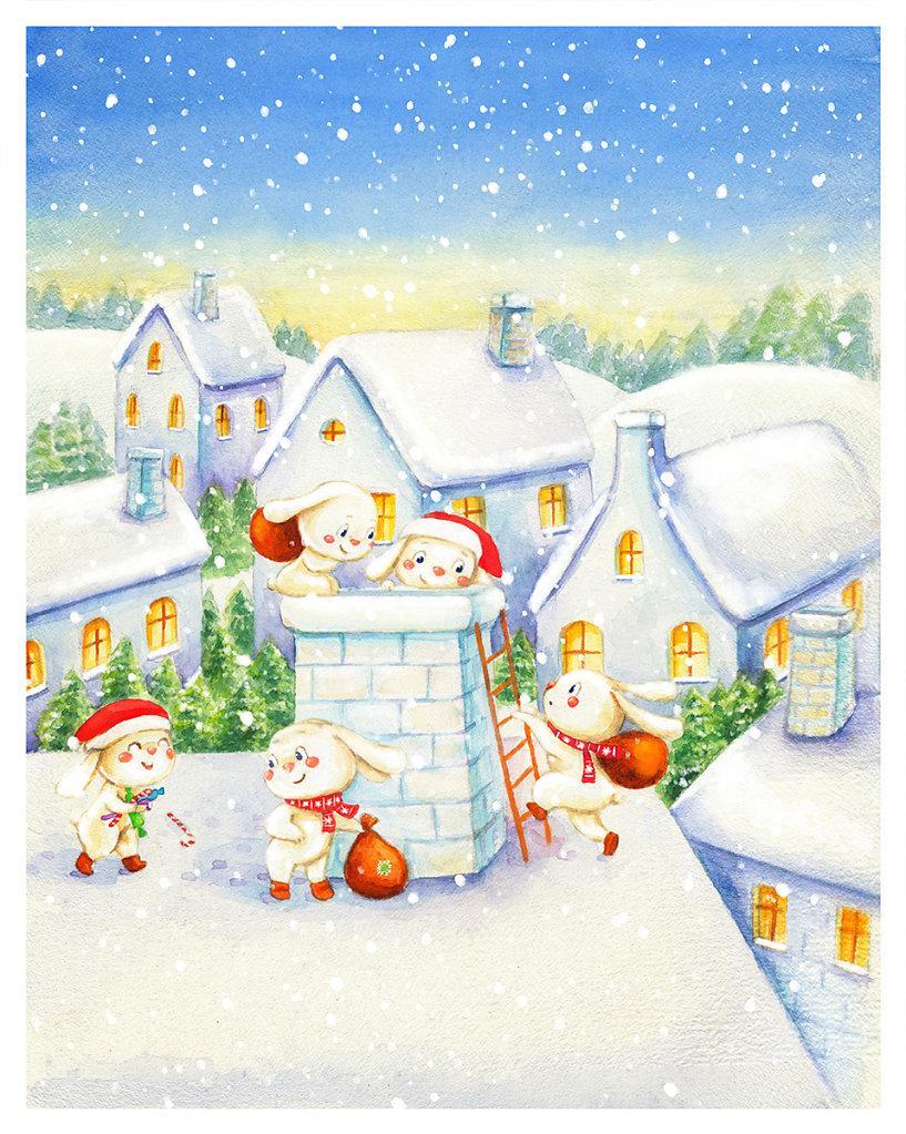 New Year postcard 3