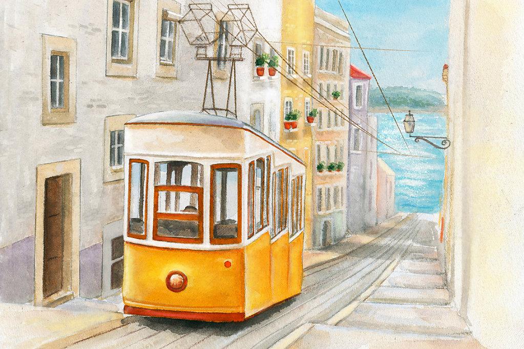 Lisbon. Postcard