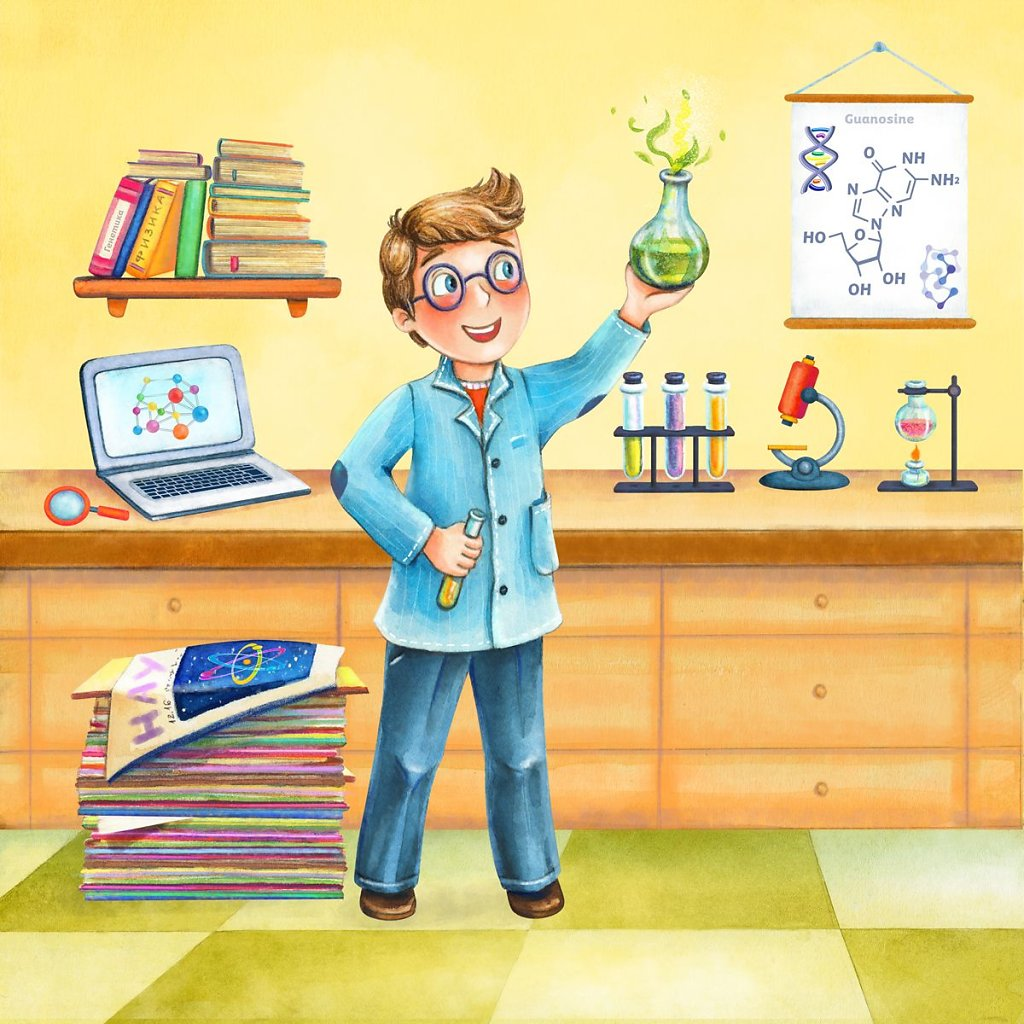 A scientist - Book for Kids - Professions