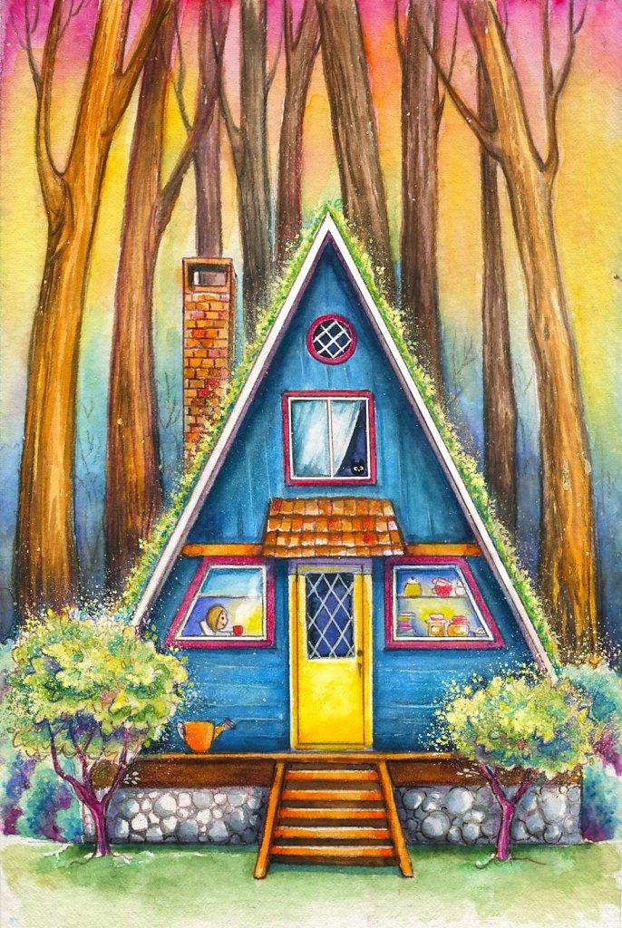 A forest hut