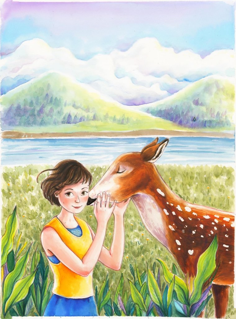 Portrait with a doe