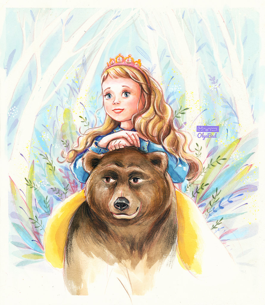 A princess and a bear